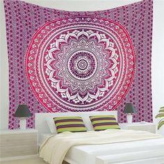 Indian Mandala Tapestry Wall Hanging Boho Printed Beach Throw Towel (Home Decor) 210X150Cm