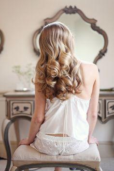 Soft waves   Romantic Bridal Beauty Boudoir Shoot