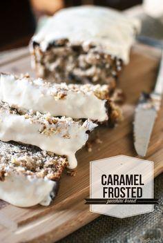 Caramel Frosted Zucchini Bread Recipe ~ delicious!
