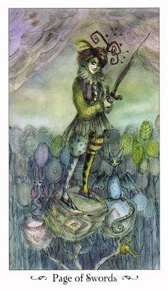 Chi tiết Lá Page of Swords - Paulina Tarot bài tarot Xem thêm tại http://tarot.vn/la-page-of-swords-paulina-tarot/