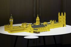 Westminster Palace, Westminster Abbey and Saint Margaret's Church in LEGO