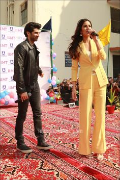 Katrina Kaif and Aditya Roy Kapur at the promotions of #Fitoor in Noida. #Bollywood #Fashion #Style #Beauty #Hot #Sexy
