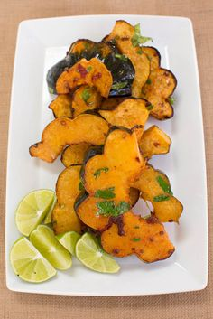 Roasted Acorn Squash with Chipotle and Lime   blog.sfcooking,com