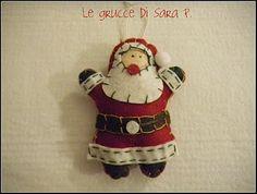 Decorazioni di Natale: Babbo Natale in pannolenci