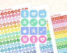 Printable Icons Planner stickers PRINTABLE IS FOR DOWNLOAD ONLY Perfect for the…