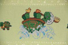 Dettaglio set asciugamani con tartarughe