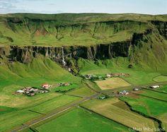 Foss, Fagrifoss, Stuðlafoss og Hamrafoss séð til norðurs, Hörgslandshreppur / Foss. Fagrifoss. Studlafoss and Hamrafoss viewingf north, Horgslandshreppur