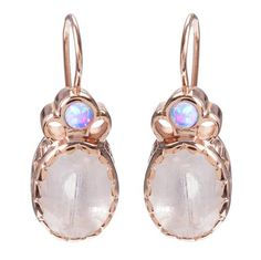June birthstone: Arik Kastan Moonstone and Opal Earrings.