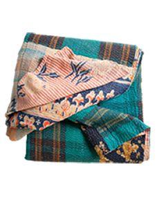 Vintage Kantha. One-of-a-kind vintage kantha quilt brings some Indian inspiration. $145.00