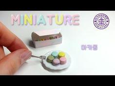 미니어쳐 마카롱 세트 만들기 MINIATURE Macaron / 딩가의 회전목마 - YouTube