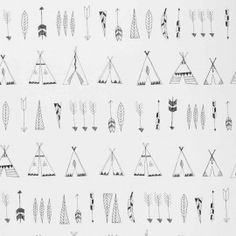 Ferm Living Native tapetti Kids Room, Wallpaper, Words, A4, Doll, House, Black, Room Kids, Home