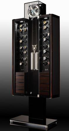Oridt Tourbillon, Watch Winder, Clock, Humidor, and Wine Storage | Buben & Zörweg. Fore more inspirations: www.bocadolobo.com Safes, luxurysafes, luxurylifestyle, exclusive design