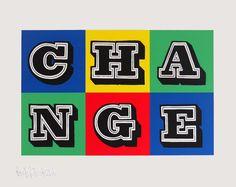Change By Ben Eine   ArtRepublic