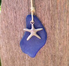 Your place to buy and sell all things handmade Sea Glass Necklace, Sea Glass Jewelry, Glass Beads, Sea Glass Beach, Little Bow, Hand Blown Glass, Starfish, Seaside, Sewing Crafts