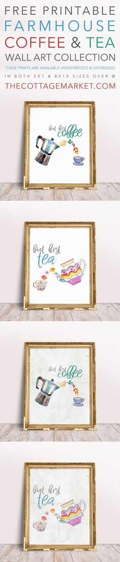 Free Printable Farmhouse Coffee and Tea Wall Art Collection