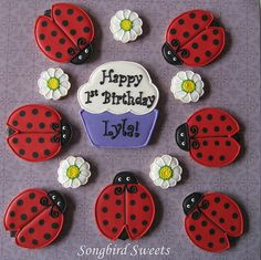 Ladybugs!! | I made these for a little girl's first birthday… | Flickr