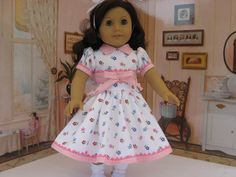 American Girl White and pink dress