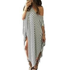 b60a39c96f New On www.smartshop.deals Loose Dresses, Beach Wear Dresses, Striped Maxi