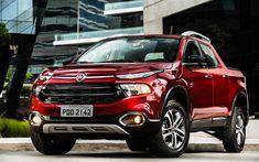 Download wallpapers Fiat Toro, 2018, new red pickup, Italian cars, red Toro, Fiat
