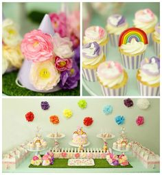 My Little Pony Birthday Party Picture Collage