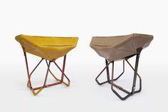 "Louis Vuitton ""Objets Nomades"" - Folding stools by Patricia Urquiola"
