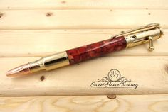 30 Caliber Bolt Action Rifle Pen  |  Copper & Gold Acrylic Bolt Action Pen  |  Rifle Bullet Pen by SweetHomeTurning on Etsy
