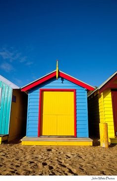 beach huts on brighton beach #australia
