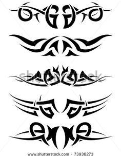 patterns of tribal tattoo for design use vector tatuajes spanish tatuajes