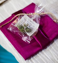 The Valleys did one San Diego destination wedding for an Arizona couple where favors (above) were air plants, specially packaged so guests were able to fly home with them.
