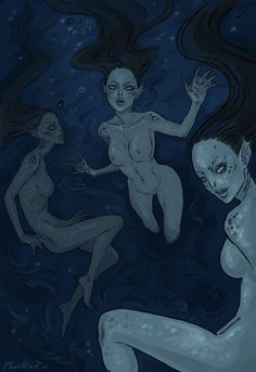 Water Wraiths by PhantomRin. ACOMAF. A Court of Mist and Fury. Sarah J. Maas.