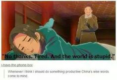 China's wise words and i will follow his wise Words every day ^.^