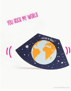 Sticking with shaped cards, you may think it is a bit odd to have a printable anniversary card with a rounded base – how will it stand up? Well, that is exactly the point – this card is designed to rock from side to side. Send a kinetic card to show your partner that they rock your world! Free Printable Anniversary Cards, Free Printable Cards, Free Printables, Anniversary Cards For Husband, Anniversary Greetings, Happy Anniversary, Craft Party, Diy Party, Free Jigsaw Puzzles