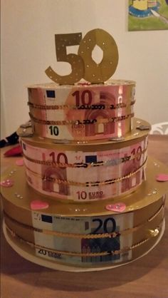 Geld cadeau voor 50 jarige bruiloft