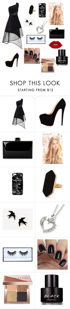 """Untitled #3"" by roaaahmad ❤ liked on Polyvore featuring David Koma, Christian Louboutin, Natasha, Mr. Gugu & Miss Go, Jaeger, Huda Beauty, Bobbi Brown Cosmetics and Kenneth Cole"