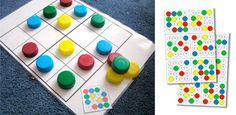 Manualidades recicladas: sudoku con tapas de plastico