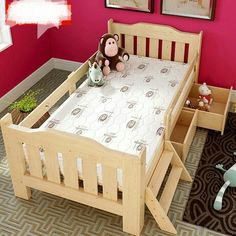 Children Furniture Children Beds Children Furniture Solid Wood Kids Beds Child Bed Guardrail With The Storage Locker Whole Sale Hot New Cartoon