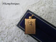 Sagittarius pendant by Nkempantiques on Etsy