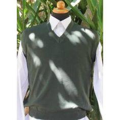 Men's V-Neck Sleeveless Sweater Vest - Petrol - 205 Crew Neck, V Neck, High Collar, Cable Knit, Olive Green, Classic Style, Knitwear, Men Sweater, Vest