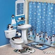 Snowman Toilet Seat Cover Rug Commode Tank Set Christmas Bathroom New Pinterest And Decor