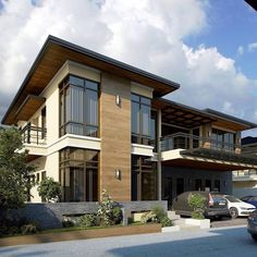 architectural style of the best and charming modern homes 22 Modern Filipino House, Modern Zen House, Modern House Plans, Modern House Design, Facade Design, Exterior Design, Gate Design, Modern Architecture House, Architecture Design