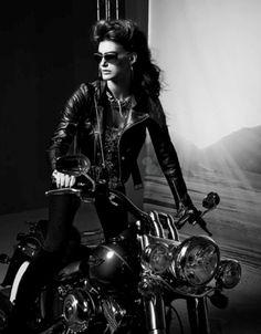 Biker chick #motorcycle #vintage