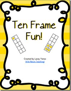 Wild about Teaching!: Math {Supposed to be…} Monday!-Subitizing & Ten Frames