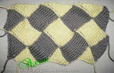 Техника Энтерлак спицами МК Knitting Patterns, Quilts, Blanket, Crochet, Knit Patterns, Knits, Comforters, Knitting Paterns, Quilt Sets