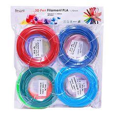 3D Pen Printer Refill ABS//PLA Filament 1.75mm 20 Colors meters 4 a 5 Gl