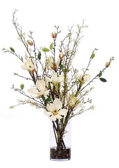 Magnolia Faux Flower Arrangement