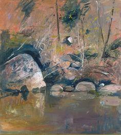 Arthur Boyd (Australia, England 24 Jul Apr Title: Reflecting rocks Other titles: On the Shoalhaven Year: Australian Artists, Landscape Paintings, Arthur Boyd, Painting Illustration, Australian Art, Australian Painting, Art, Landscape Art, Art World