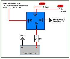 4 Pin Relay Wiring Diagram volvo 544 outlaw racer Pinterest
