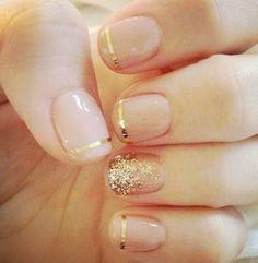 Gold Wedding Nail Idea                                                                                                                                                                                 More