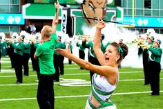 Kylie Marshall University Feature Twirler during pregame!! :)