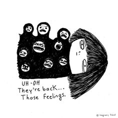 Mexican Canadian Creates Emotional Cartoons To Handle Her - One Of Them Was This Cartoon Imaginary Friend The Name Refers To The Years When Ani Wouldnt Dare To Speak For Fear Of Embarrassing Herself In The New Language But Her Mind Would Be Flooded Wi Art And Illustration, Animal Illustrations, Illustrations Posters, Oeuvre D'art, Art Inspo, Art Drawings, Doodles, Artsy, Sketches